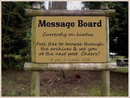 message-board on a hiatus official p&k 2015